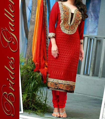 Salwar suit with beautiful neck design pictures to pin on pinterest