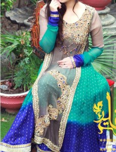 Styilsh-Fashionable-Colorful-Dresses-Plates-Wali--Frock-2015-Party-Wedding