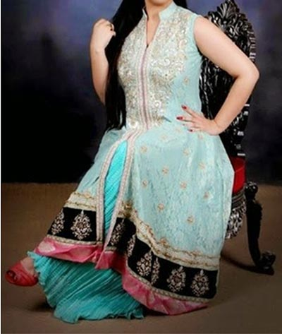 Stylish Beautiful Plus Size Healthy Women over weight Fat Suit Ladies Pakistani Indian Dresses