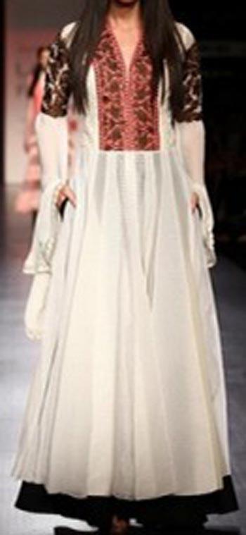 latest frock suits designs manish malhotra 2015 Kalidar Frocks, Anarkali Umbrella White