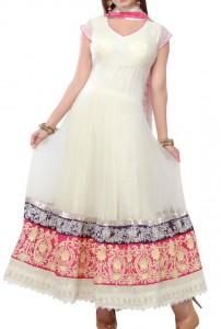 white-color Kalidar Suits, Kaliyon Kali Wali Frocks Designs 2015 Pakistan India