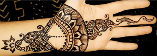 Beautiful-Stylish-Punjabi-Dulhan-Bridal-Mehndi-Designs-for-Front-Hands-Leaves