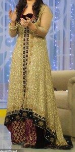 Fancy Good Morning Zindagi With Actress Noor A Plus Dresses Designs, Open Style Tail Gown Frock