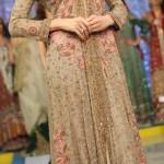 Beautiful Tail Frock with Choori Pajama for Girls Wedding Dress