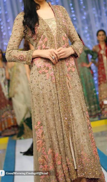 Fashion Week 2015 Pakistan, Wedding Dresses Open Style Tail Gown