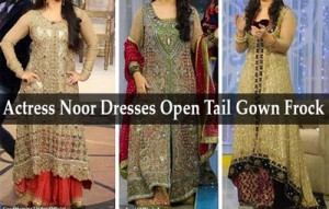 Good Morning Zindagi Noor A Plus Dresses Open Tail Gown Frock