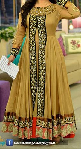 Good Morning Zindagi With Actress Noor Bukhari A Plus Dresses Designs, Open Style Frock
