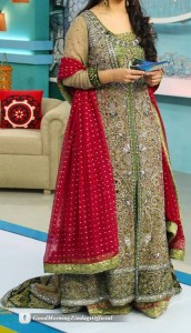 Good Morning Zindagi With Noor A Plus Dresses Designs, Open Style Tail Gown Frock