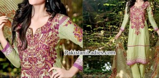 Gul Ahmed Spring Summer Lawn Silk Chiffon Dress Collection 2015 Kurta fo Women Girls