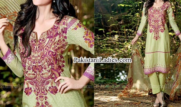 Gul Ahmed Spring Summer Lawn Silk Chiffon Dress Collection 2015 Kurta fo Women Girls