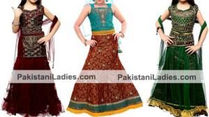 Kids Girls Party Wedding Dress Suits Lehenga Choli Designs