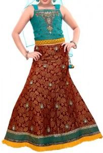 Kids-Girls-Sharara-2015-Lehenga-Choli-Party-Wedding-Dress-Suits-Indian
