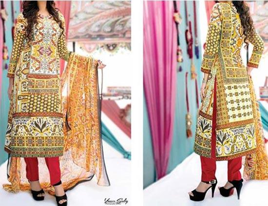 Amna Ismail Lawn 2015 Shalwar Kameez Designs Fashion Pakistan