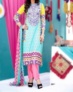 Amna Ismail Lawn 2015 Shalwar Kameez Women Girls Designs Fashion Pink