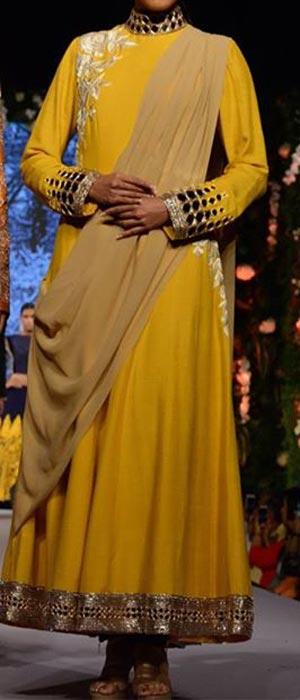 Manish Malhotra Summer Collection 2015 Blue Runway Lakme Fashion Week Frock Suit