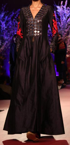 Manish Malhotra Summer Collection 2015 Blue Runway Lakme Fashion Week Gown