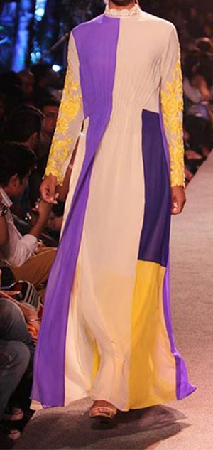 Manish Malhotra Summer Collection 2015 Blue Runway Lakme Fashion Week India