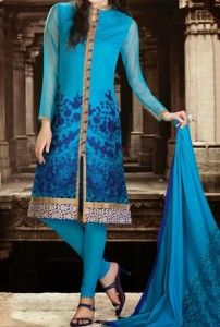 Wedding Sherwani Suits Designs for Women in India Pakistan Sky Blue