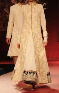 Wedding Sherwani Suits Designs for Women in India Pakistan White