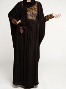 Latest Fancy Saudi Abaya Designs Styles Collection 2015 Black