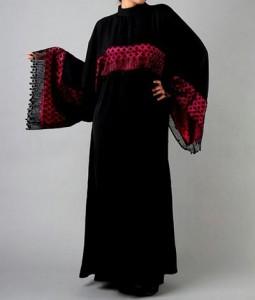 Latest Saudi Abaya Designs Styles Collection 2015 Black Burkha
