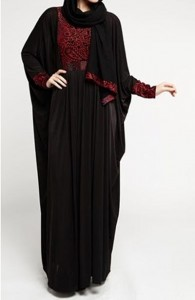 Latest Saudi Abaya Designs Styles Collection 2015 Black Burqa