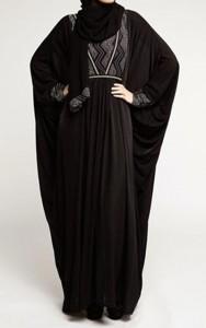 Latest Saudi Abaya Designs Styles Collection 2015 Black Burqa Pakistan