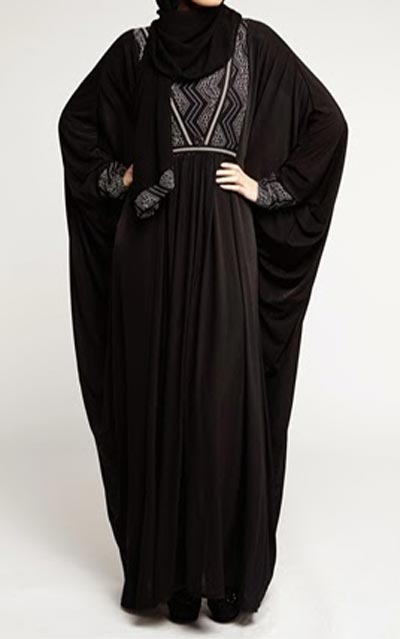 Sabiha Elegant Black Burqa With Hijab Price in India - Buy Sabiha ...