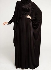 Latest Saudi Abaya Designs Styles Collection 2015 Black Fashion