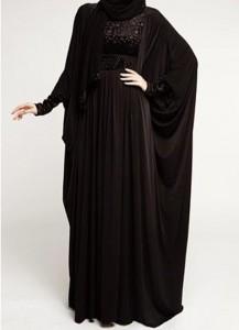 Latest Saudi Abaya Designs Styles Collection 2015 Black Fashion