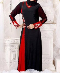 Latest Saudi Abaya Designs Styles Collection 2015 Black Pakistan