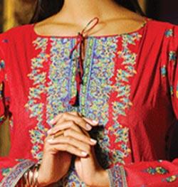 Lawn Summer Dresses Neck, Cotton Suits Gala Designs 2015 Kameez