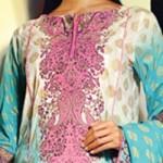 Lawn Summer Dresses Neck, Cotton Suits Gala Designs 2015 Salwar Kameez 1