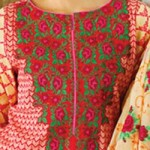 Lawn Summer Dresses Neck, Cotton Suits Gala Designs 2015 Salwar Kameez 3