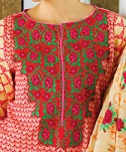 Lawn Summer Dresses Neck, Cotton Suits Gala Designs 2015 Salwar Kameez 3