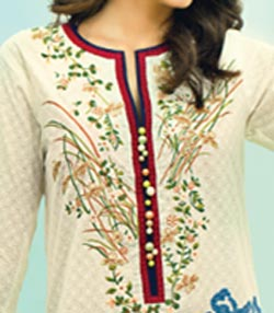 Lawn Summer Dresses Neck, Cotton Suits Gala Designs 2015 Salwar Kameez 5