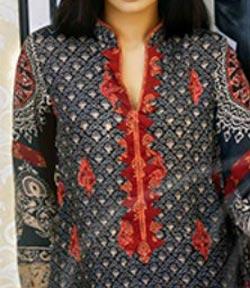 Lawn Summer Dresses Neck, Cotton Suits Gala Designs 2015 Salwar Kameez 6