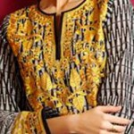 Lawn Summer Dresses Neck, Cotton Suits Gala Designs 2015 Salwar Kameez 7
