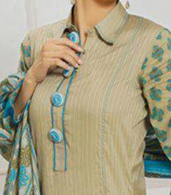 Lawn Summer Dresses Neck, Cotton Suits Gala Designs 2015 Salwar Kameez Button