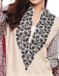 New Lawn Summer Dresses Neck, Cotton Suits Gala Designs 2015 Salwar Kameez