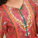 Simple Lawn Summer Dresses Neck, Cotton Suits Gala Designs 2015 Salwar Kameez 8