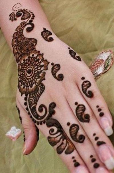 New EID Arabic Mehndi Designs for Hands Pakistani Indian 2015