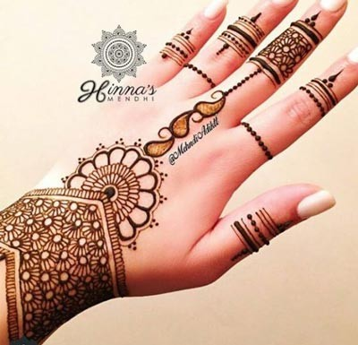 Stylish Beautiful New EID Arabic Mehndi Designs for Hands Pakistani Indian