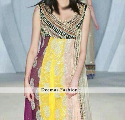 Multi-Pannel-Andrakha-Style-Pishwas New Style of Frocks