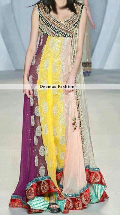 Multi-Pannel-Andrakha-Style-Pishwas New Style of Frocks