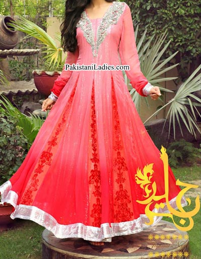 New Style of Frocks for Wedding Front Open Tail Gown Designs 2016