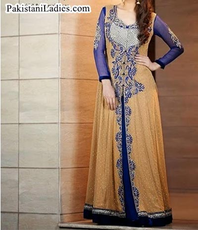 wedding-wear-maxi- Latest Front Open Tail Gown Designs