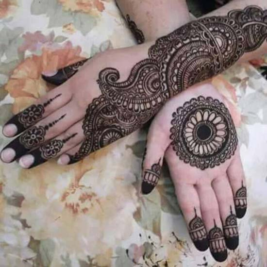 Mehndi Designs For Upper Hands : Latest unique arabic mehndi designs for hands free download