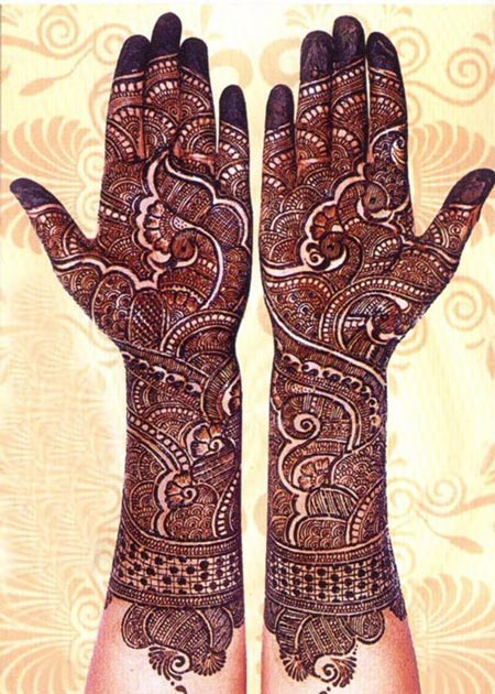 Mehndi Patterns Bridal : Latest new bridal or dulhan mehndi designs for full hands