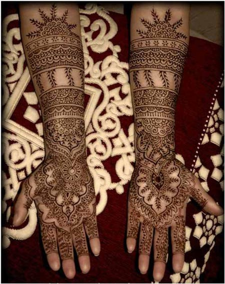 Mehndi Bridal Latest Design : Latest new bridal or dulhan mehndi designs for full